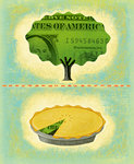 Tree and Pie Made of Money