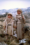 Two Small Bedouin Children Holding Hands