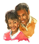 A Smiling African American Couple