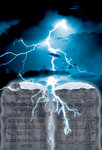 Lightening and Ten Commandments