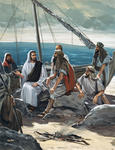 Jesus Along the Sea of Galilee