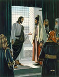 Jesus and a Pharisee