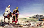 Mary and Joseph on Way to Bethlehem