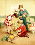 Children Packing Thanksgiving Basket