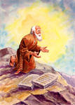 God Gives Moses the Ten Commandments