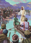 Jesus Preaching From the Boat