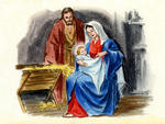 Joseph, Mary and Baby Jesus